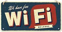 Aanbiedingen We Have Free Wi-Fi - Metalen Wandplaat - Baby Art - Geldig van 23/05/2021 tot 28/06/2021 bij Expo XL
