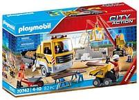 Aanbiedingen 70742 Bouwplaats met kiepwagen - Playmobil - Geldig van 15/06/2021 tot 29/06/2021 bij Toychamp