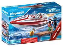 Aanbiedingen 70744 Speedboot met onderwatermotor - Playmobil - Geldig van 15/06/2021 tot 29/06/2021 bij Toychamp