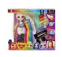 Aanbiedingen Rainbow High 5-in-1 Hair Studio met Rainbow pop -  - Geldig van 24/07/2021 tot 07/08/2021 bij Toychamp