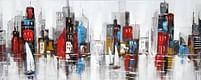Aanbiedingen Color City Olieverfschilderij Op Linnen 60x150 cm - Huismerk - Ici Paris XL - Geldig van 15/08/2021 tot 23/10/2021 bij Expo XL