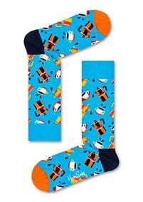 Aanbiedingen Happy Socks Coffee Sokken, Blauw - Happy Girl - Geldig van 15/08/2021 tot 23/10/2021 bij Expo XL