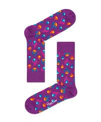 Aanbiedingen Happy Socks Flame Sokken, Paars - Happy Girl - Geldig van 15/08/2021 tot 23/10/2021 bij Expo XL