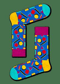 Aanbiedingen Happy Socks Nineties Sokken - Happy Girl - Geldig van 15/08/2021 tot 23/10/2021 bij Expo XL