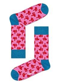 Aanbiedingen Happy Socks Thumbs Up Sokken, Roze - Happy Girl - Geldig van 15/08/2021 tot 23/10/2021 bij Expo XL