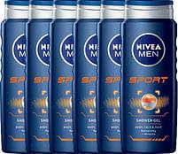 Aanbiedingen Nivea Men Douchegel Sport Body Face And Hair Voordeelverpakking 6x500ml - Nivea - Geldig van 15/08/2021 tot 03/11/2021 bij Drogisterij.net