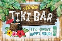 Aanbiedingen Aloha Tiki Bar Happy Hour - Metalen Wandplaat - Baby Art - Geldig van 15/08/2021 tot 23/10/2021 bij Expo XL