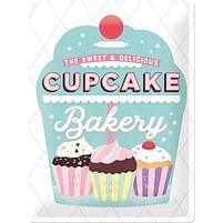 Aanbiedingen Cupcake Bakery - Metalen Wandplaat - Baby Art - Geldig van 15/08/2021 tot 23/10/2021 bij Expo XL