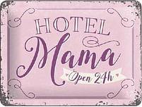 Aanbiedingen Hotel Mama Open 24h - Metalen Wandplaat - Baby Art - Geldig van 15/08/2021 tot 23/10/2021 bij Expo XL