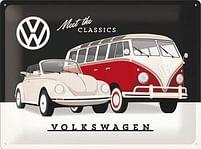 Aanbiedingen Volkswagen Meet The Classics - Metalen Wandplaat - Baby Art - Geldig van 15/08/2021 tot 23/10/2021 bij Expo XL