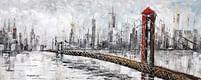 Aanbiedingen Stadsgezicht, Brug Olieverfschilderij Op Linnen 60x150 cm - Huismerk - Ici Paris XL - Geldig van 15/08/2021 tot 23/10/2021 bij Expo XL