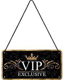Aanbiedingen VIP Exclusive Hangend Metalen Bord - Huismerk - Ici Paris XL - Geldig van 15/08/2021 tot 23/10/2021 bij Expo XL