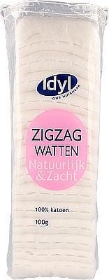 Aanbiedingen Idyl Huismerk Watten Zigzag 100 Gram - Huismerk - Makro - Geldig van 16/08/2021 tot 02/10/2021 bij Drogisterij.net