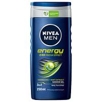 Aanbiedingen 24x Nivea Douchegel 3in1 For Men Energy 250 ml - Nivea - Geldig van 17/09/2021 tot 03/11/2021 bij Plein