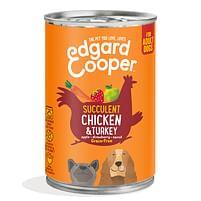 Aanbiedingen Edgard&Cooper Blik Vers Vlees Kip - Kalkoen 400 gr - Lee Cooper - Geldig van 18/09/2021 tot 04/11/2021 bij Plein