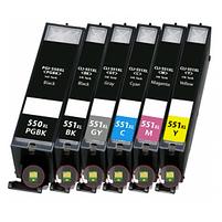 Aanbiedingen Compatible Canon PGI-550 XL + CLI-551 XL inktcartridges voordeelbundel (6set) (inktcartridges) Alleeninkt - Canon - Geldig van 09/09/2021 tot 04/10/2021 bij Alleeninkt