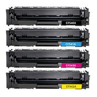 Aanbiedingen Compatible HP 203X (CF540X-CF543X) toners voordeelbundel hoge capaciteit (toners) Alleeninkt - HP - Geldig van 09/09/2021 tot 23/09/2021 bij Alleeninkt