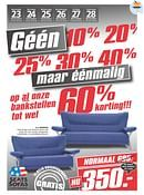 Seats and Sofas folder geldig tot 28-11-2015